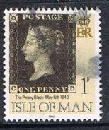 Isle Of Man SG442 1990 Penny Black 1p CD Good/fine Used [12/12554/25D]