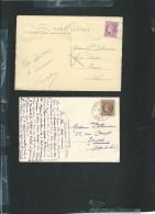 Lot De 6 Cartes Postale Affranchie Par Ceres De Mazelin - Obe05 - 1945-47 Cérès De Mazelin