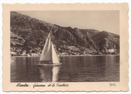 MENTON. - Garavan Et La Frontière. CPM Dentelée De 1950 Pas Courante - Menton