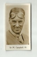 ** Sir  M. CAMPBELL** - Trading Cards