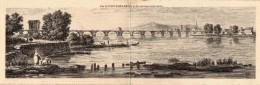 Vue De Pont Saint Esprit Et Des Environs Au XVIIIè Siecle ( Dessin) - Pont-Saint-Esprit