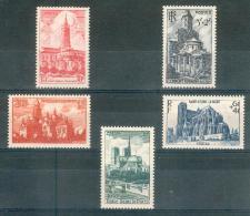 France  1947 - Sup Série Complète Cathédrales Et Basiliques  Y&T N° 772 à 776 ** Neufs Luxe 1er Choix (sans Charnières).