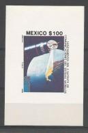 """Mexico BL 31 **  (MNH)   """" Satelite De Communicaciones Del Sistema Morelloso """""""