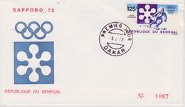 FDC SENEGAL 1972 JEUX OLYMPIQUES DE SAPPORO