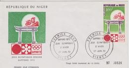 FDC NIGER 1972 JEUX OLYMPIQUES DE SAPPORO