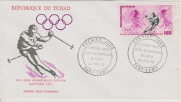 FDC TCHAD 1972 JEUX OLYMPIQUES DE SAPPORO