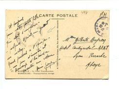 """Cp - Cachet De Franchise MARSEILLE -  """" 14e Régiment De Tirailleurs Sénégalais"""" - Marcophilie (Lettres)"""
