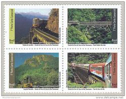 Brazil 2016 Serra Do Mar Train Railway Mountains MNH ** - Unused Stamps