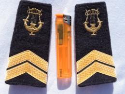 MUSIQUE DE LA FLOTTE - MARINE NATIONALE  -  PAIRE MANCHONS EPAULETTES - Uniforms