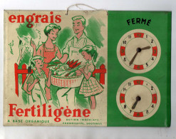 PLAQUE PUBLICITAIRE TOLE  Engrais Fertiligène - Farm