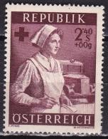 Osterreich /  Austria 1954 Wellfare Red Cross Sister 2.40 + 60 Gr. Lilacarmine Mi 1004 MNH