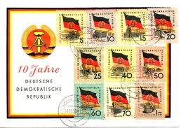 RDA. N°438-47 De 1959 Sur Enveloppe Commémorative Ayant Circulé. Drapeau.