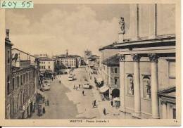 Veneto-venezia-mestre Piazza Umberto I Veduta Particolare Animatissima Anni 30/40 - Italia