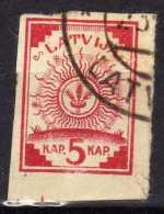 Lettland / Latvia Mi 1 II, Gestempelt, Karte Normal [241016XVII] - Latvia