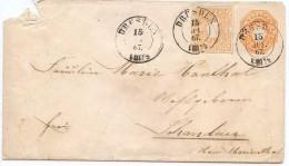 CTN44 - SAXE ENVELOPPE CIRCULEE DRESDE15/7/1867 - DEFAUT