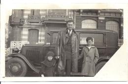AUTOMOBILE NOIRE  PERE ET ENFANTS  JUIN 1934  12X7,5cm - Automobili