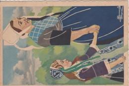 C P S M  HOMUALK EN PARCOURANT LA BRETAGNE LOCRONAN SERIE 1 1940 N° 18 - Homualk