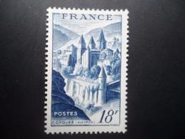 Année 1948 N°805 Neuf ** MNH Abbaye De Conques 18F Bleu