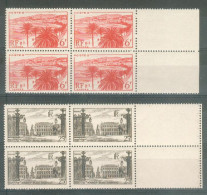 France 1947 - 2 Blocs De 4 - La Croisette à Cannes Et Place Stanislas à Nancy - Y&T N° 777/778 ** Neufs Luxe 1er Choix .