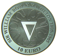 [NC] Irlanda Ireland Eire 10 € Euro 2005 Sir William Rowan Hamilton Silver - Irlande