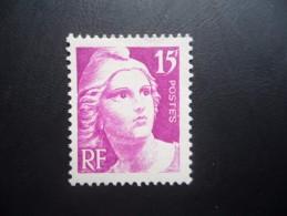 Année 1945 - 47  N°727 Neuf * Marianne De Gandon 15F Violet