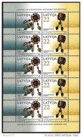 LATVIA 2006 Jewellery Sheetlet  MNH / **.  Michel 672-73 Kb - Latvia