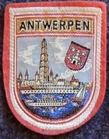 Patch Écusson Tissu Touristique : Belgique - Antwerpen - Cathédrale Notre Dame - Bateau Sur L'Escaut - Ecussons Tissu