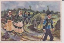 C P S M  HOMUALK EN PARCOURANT LA BRETAGNE LOCRONAN SERIE 1 1940 N° 33 - Homualk