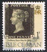 Isle Of Man SG442 1990 Penny Black 1p DA Good/fine Used [12/12557/25D]