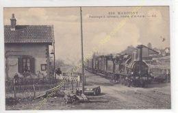Rare CPA 71110 MARCIGNY Passage à Niveau Route Artaix Avec Train Edit FRANçOIS - Unclassified