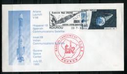 "France 1993 Sonderbeleg Ariane Raumfahrt M. Mi. Nr.1531 Und Sonderstempel ""Kourou-Ariane 4 "" 1 Beleg ,used"