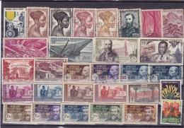 A E F : Y&T : Lot De 30 Timbres Oblitérés - A.E.F. (1936-1958)