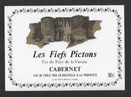 Etiquette De Vin De Pays De La Vienne  -  Les Fiefs Pictons  -  CCHP  à Neuville  (86) - Unclassified