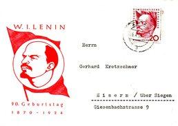 RDA. N°476 De 1960 Sur Enveloppe Commémorative Ayant Circulé. Lénine.