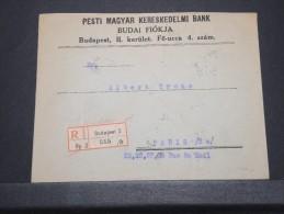 HONGRIE - Env Recommandée De Budapest Pour Paris Avec Timbres Perforés - 1927 - A Voir - P16781