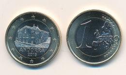 Andorra 2015 - ORIGINAL Amtliche 1 Euro Kursmünze - Stempelglanz Aus KMS - Vatican