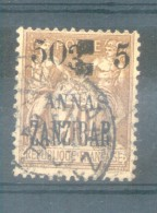 ZANZIBAR COLONIE FRANCAISE AN 1904 YVERT TELLIER NR. 59 - - Gebruikt