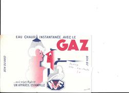 BUVARD GAZ EAU CHAUDE - Electricité & Gaz