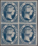 FAC-7 ESPAÑA SPAIN. SEGUI OLD FACSIMILE REPRODUCTION. ISABEL II. 1851 6r BLOCK 4. - Proofs & Reprints