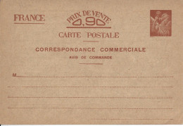 Entier Postal, Iris, Commerciale - Postal Stamped Stationery
