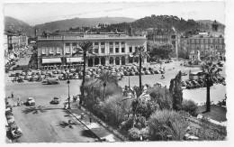 (RECTO / VERSO) NICE EN 1963 - N° 11 - LA PLACE MASSENA AVEC VIEILLES VOITURES - FORMAT CPA - Places, Squares