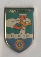 4 Pin´s: Marignane - Etang De Berre  Lions Club - Marignane L.D. - Marignane Amicale Du Personnel Communal - USM - Städte