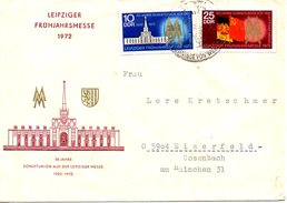 RDA. N°1433-4 De 1972 Sur Enveloppe Commémorative Ayant Circulé. Foire De Leipzig/Drapeau.