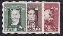 Austria 1948 Mi-Nr. 855-857, Todestag Ziehrer+Stifter+Amerling, Postfrisch, Siehe Scan