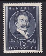 Austria 1949 Mi-Nr. 934, 50.Todestag Johann Strauss Sohn, Postfrisch, Siehe Scan