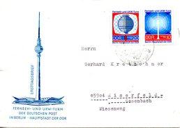 RDA. N°1203-4 De 1969 Sur Enveloppe Commémorative Ayant Circulé. Télévision.