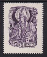 Austria 1949 Mi-Nr. 936, 1000.Geburtstag Hl. Gebhard, Postfrisch, Siehe Scan