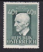 Austria 1949 Mi-Nr. 941, 125.Geburtstag Anton Bruckner, Postfrisch, Siehe Scan