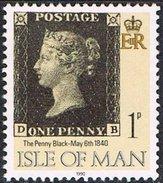 Isle Of Man SG442 1990 Penny Black 1p DB Good/fine Used [12/12558/25D]