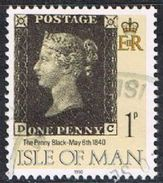 Isle Of Man SG442 1990 Penny Black 1p DC Good/fine Used [12/12559/25D]